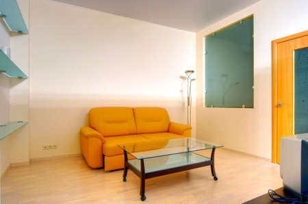 Living-room with the modern furniture Stock Photo