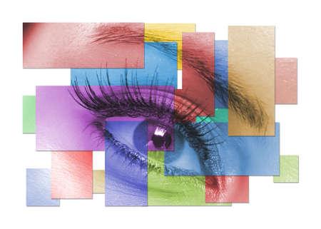 La macro bellissima femmina occhio