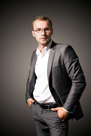 Portrait of a young businessman photo