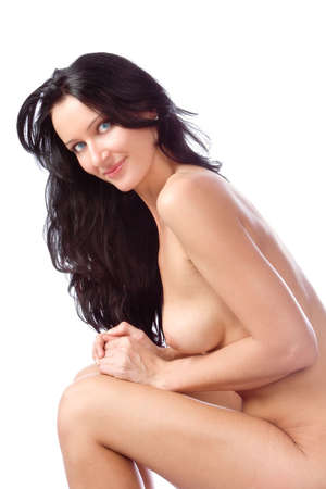 hot breast: The beautiful young naked woman