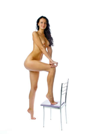 femme nue: La belle jeune femme nue