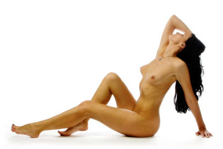 The beautiful young naked woman