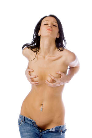 The beautiful young naked woman Stock Photo - 3711859