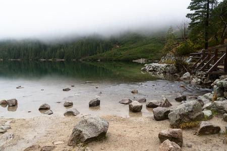 oko: mountain to the Morskie Oko lake near Zakopane, Tatra mountains, Poland Stock Photo