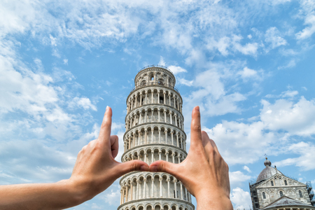 Leaning Tower of Pisa, Italy, on a sunny day
