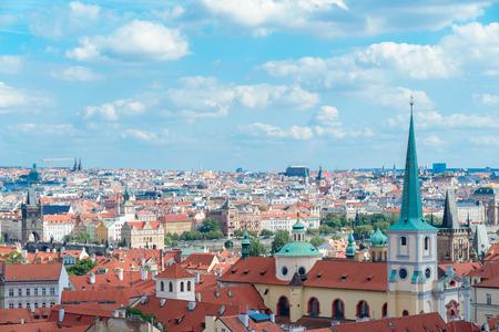 The aerial view of Prague City Czech Republic Stock Photo
