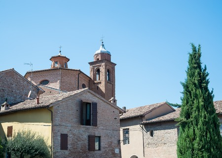 Santarcangelo view of the dome of the old church italy Rimini Italy