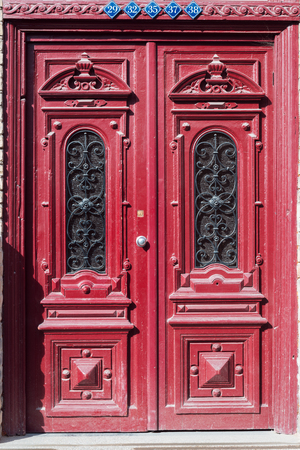 mistery: Old door in Vilnius old-town, Lithuania