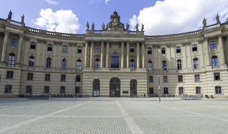 Humboldt University of Berlin in autumn day in Berlin Germany September 2017.