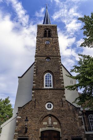 fasade: fasade of the English Church at Begijnhof in Amsterdam Netherlands.