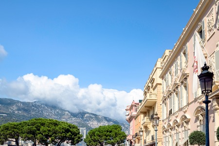 Monaco Europe. View of Palace square Sunny day