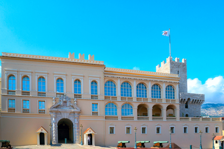 View of the Princes Palace in Monaco-Ville, Monaco.