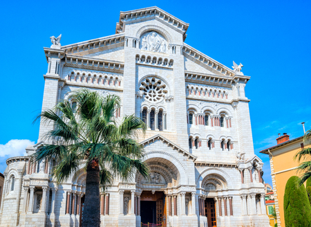 View of Saint Nicholas Cathedral in Monaco.