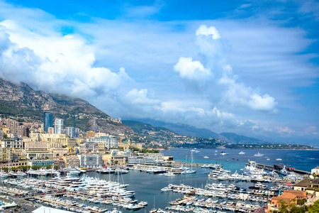 Panoramic views of the chic, expensive Monte-Carlo, Monaco