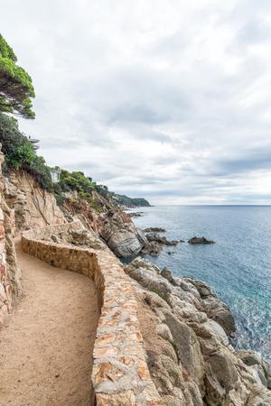 mediterranean sea at the Costa Brava Lloret de Mar, Spain.