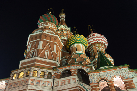 St Basil's cathedral on Red Square, Moscow, Russia.