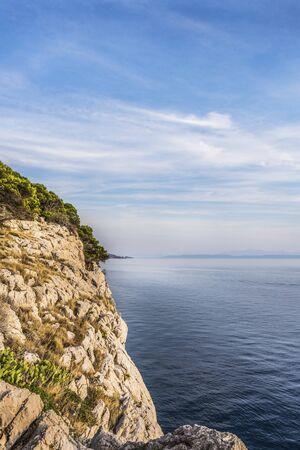 The view of the sunset, Adriatic coast, Croatia