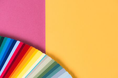 color palette on the yellow-pink background Reklamní fotografie