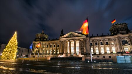Germany. The building of the Berlin of the Bundestag in the winter at Christmas