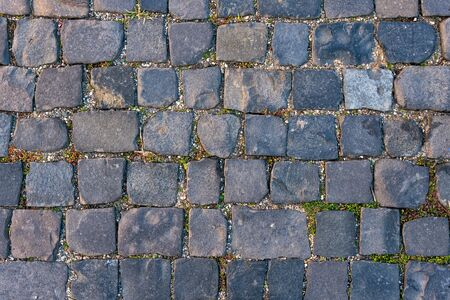 Abstract background of old cobblestone pavement 写真素材