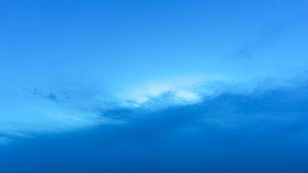Light blue sky at sunset. Stok Fotoğraf