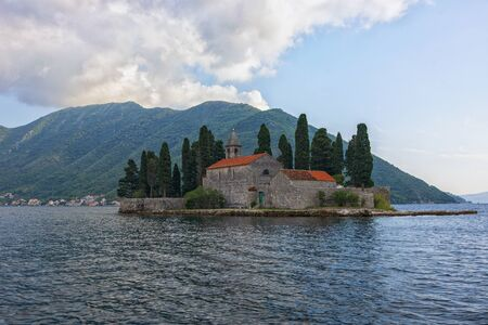 View of St. George island in Perast, Montenegro