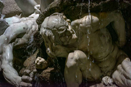 Fountain at the entrance to the Hofburg Palace. Vienna, Austria