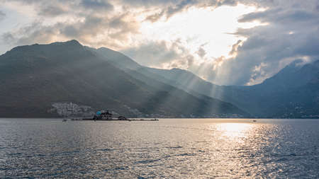 church of Our Lady of the Rocks on an islet of the Bay of Kotor, Montenegro
