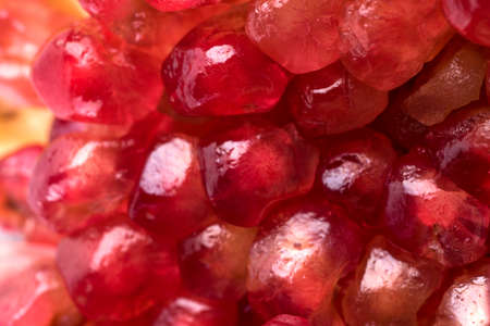 grains of ripe pomegranate close-up photo with shallow depth of field Zdjęcie Seryjne