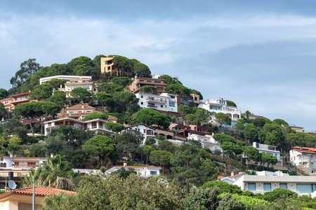 Views of the Spanish resort town of Lloret de Mar, Costa Brava, Catalonia, Spain