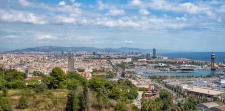 Views of Barcelona from Montjuic, Spain Zdjęcie Seryjne