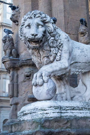 Medici lion statue Florence Italy