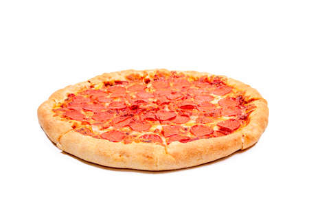 Pizza with a side on a white background 免版税图像