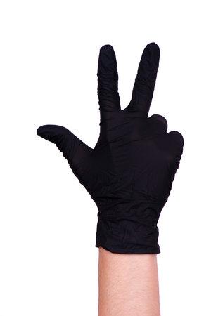 female hands in gloves. medical theme. coronavirus pandemic Фото со стока