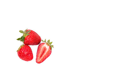 strawberry closeup on a white background