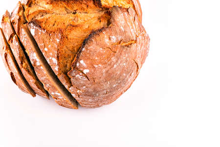 hot fresh bread on a white background