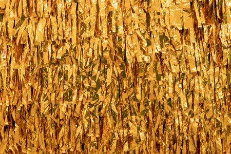 background gold sequins decoration. gold leaf Stok Fotoğraf