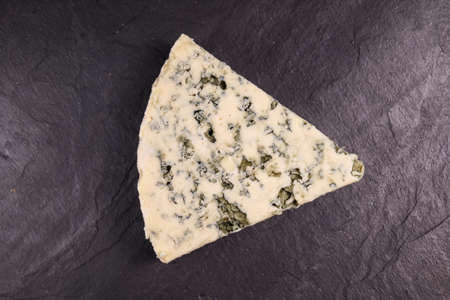 blue cheese sliced close-up. food cheese