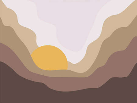 sun in the clouds vector sketch