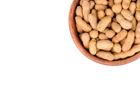 peanut in a shell texture. food background of peanuts Stok Fotoğraf