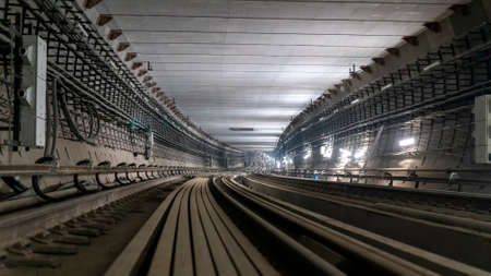 View of the metro tunnel under construction Stok Fotoğraf