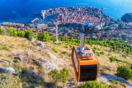 Croatia. Dalmatia. View of Dubrovnik from a height. Stok Fotoğraf