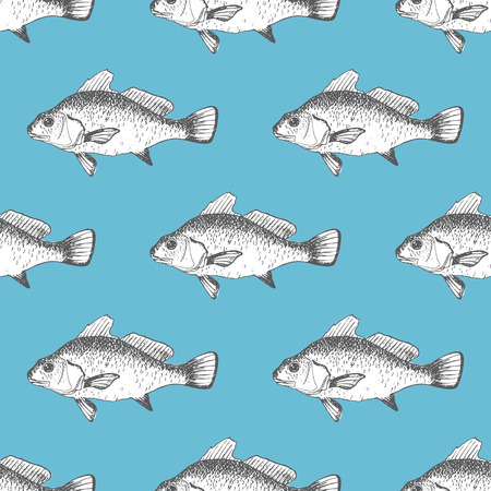 fishes: Vector seamless pattern with fishes Illustration