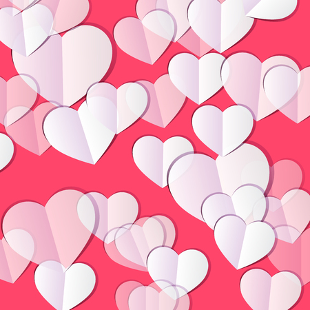 Valentine\'s Day Background With Hearts. Abstract Background Design ...