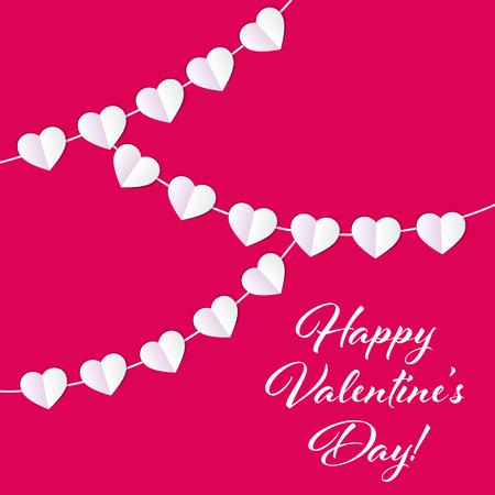 14: Vector St Valentine Days Greeting Card in Retro Style Design