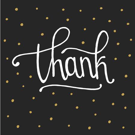 Thank you handwritten vector illustration in white background