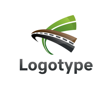 Logotype transportation,road.
