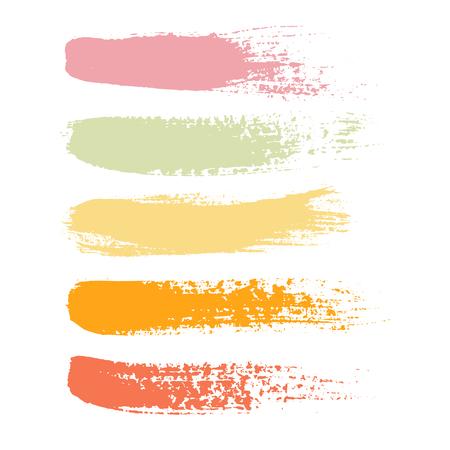brushstroke: Set of black paint, ink brush strokes, brushes, lines.