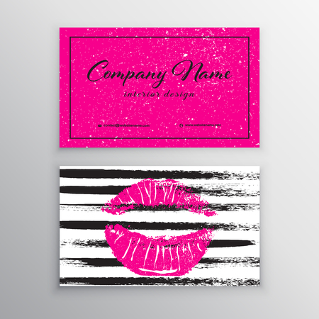 Makeup artist business card business cards template with pink makeup artist business card business cards template with pink lips print design templates for accmission Choice Image