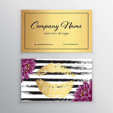 Makeup artist business card business cards template with pink makeup artist business card business cards template with pink lips print stock vector flashek Image collections